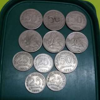 Lot Of Old Indonesian Coin