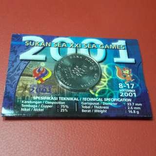 Syiling peringatan $1 sempena sea games 2001 utk di jual