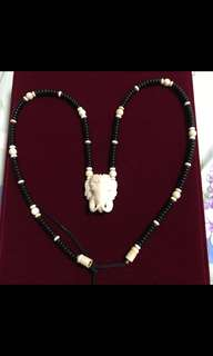 Ivory necklace for amulet