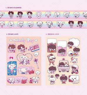 sehun windy boy sticker and tape