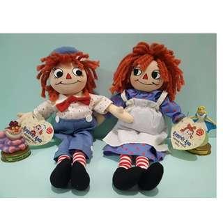 (罕見難尋)美國絕版全新Q版鄉村娃娃Ann&Andy,全新有盒裝!