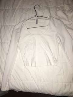 American Apparel Long Sleeve Crop Top