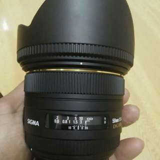 Sigma 50mm f.1.4 for Canon