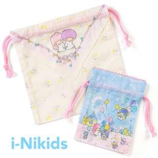 🇯🇵日本直送 - 原裝日版 Sanrio - Little Twin Stars 雙子星索繩布袋一套2個裝