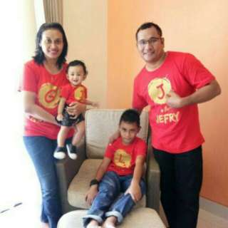 Kaos Custom Pria/Wanita/Bayi/Anak/Keluarga (design sesuka hati) design sendiri