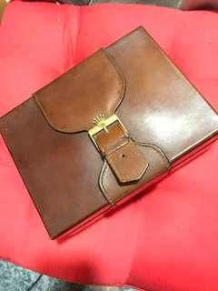 Rolex golden watch leather box