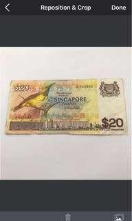 Singapore $20 Bird
