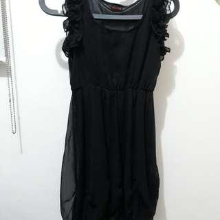 Get Laud! Black ruffle dress