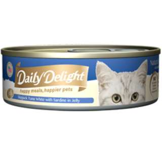 10 x Daily Delight Skipjack Tuna White with Sardine in Jelly(REAL FISH MEAT INSIDE)