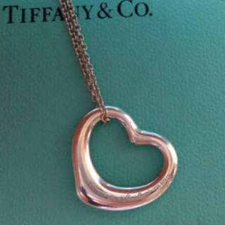 Tiffany open heart 項鍊 中號 m號