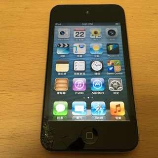 [偉仔的狗窩] 有裂痕 第四代 APPLE iPod Touch 32G 黑色