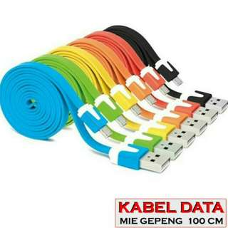 Kabel Data Gepeng Warna 1 Meter