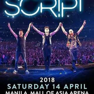 REPRICED: The Script in Manila 2018 Lower Box B Ticket