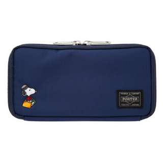 *Preorder* Snoopy Coin purseSnoopy × PORTER Purse (JOE PORTER / Navy)