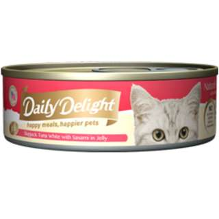 Daily Delight Skipjack Tuna White with Sasami in Jelly(REAL FISH MEAT INSIDE)