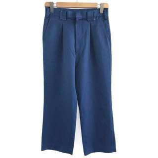 🌴90s藍色高腰寬版西裝褲 男女皆可Vintage 日本帶回古著