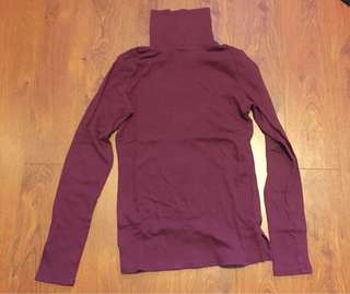 Burgundy Turtle Neck