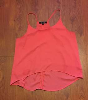 Salmon Pink Hi-Lo Top