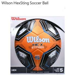 Wilson Sporting Goods HexSting Soccer Ball: Great for indoor or outdoor recreational play30-panel
