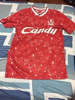 (BRAND NEW) Liverpool FC Adult 1989/91 Candy Home Shirt