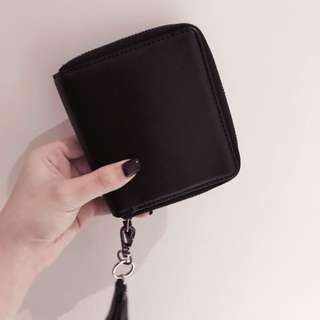 時尚黑短夾 零錢包 錢包