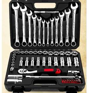Brand New 69 Pcs Professional Car Ratchet Wrench Tools Set - Delivery by QExpress