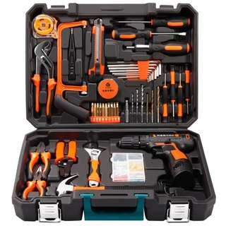 (Out of stock) Professional Household Tools Set with Cordless 12v Lithium Drill + (Extra lithium Battery + EXECUTIVE GIFT PACK) LIMITED STOCK*** For Buyer Aliah