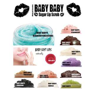 Baby Baby Lip Scrub  ( available in may flavors)