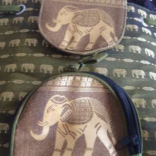 Elephant backpack from Thailand