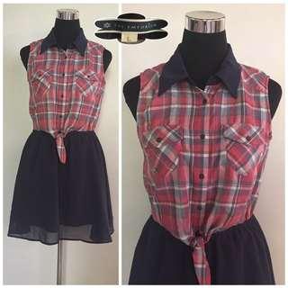 Checkered Dress (M-L)