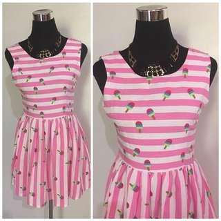 Popsicle Print Dress (S-M)