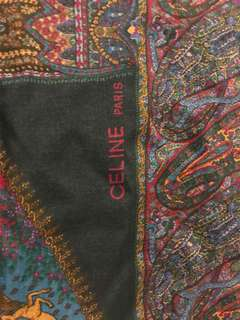 Authentic Celine large square shawl/scarf