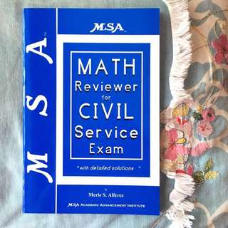 MSA Math Reviewer for Civil Service Exam with Detailed Solution