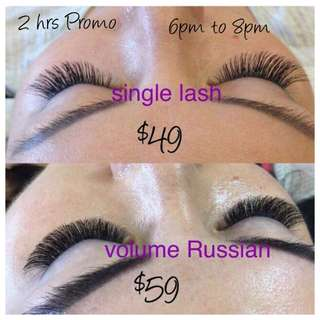 2hrs Promo 6pm to 8pm today