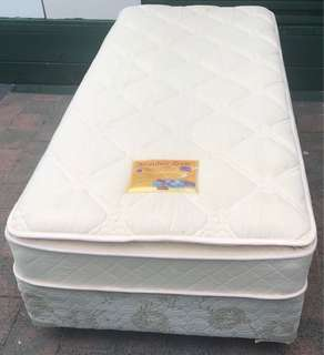 Excellent single bed base with Pillow Top mattress for sale