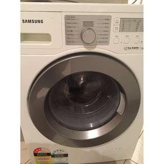 Samsung Washing Machine Front Loader 7.5kg WF0754W7V $220 (Used)