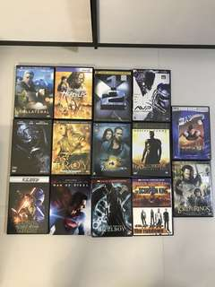 New and used various DVDs