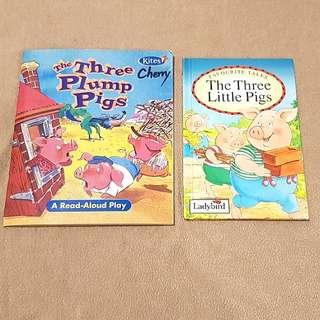 (1+1)三隻小豬英文故事繪本組(附故事CD)
