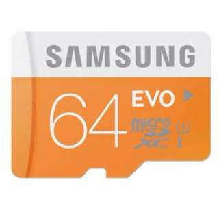 Samsung 64GB EVO MicroSD Card with SD Adapter
