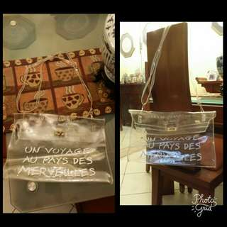 Transparent shoulder bag/clutch