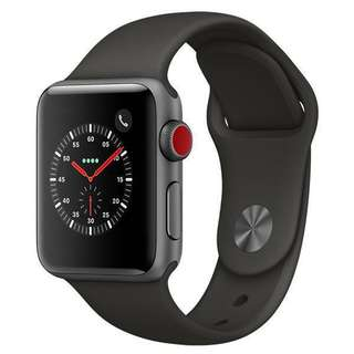 Selling NEW Apple Series 3 Space Grey Sport Band Cellular