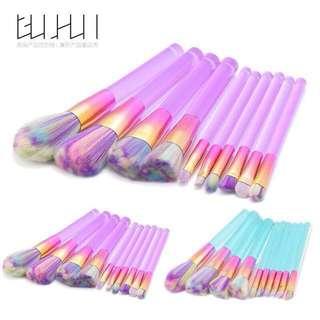 超美🦄️10隻‼️便宜搶浪漫配色10隻刷具組 ‼️用的時候心情超好