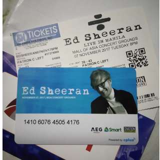 ED SHEERAN MANILA TICKET PATRON C
