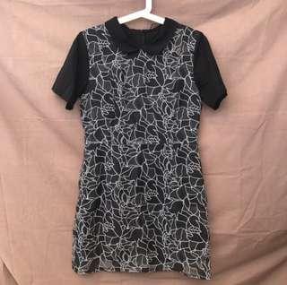 Brocade black dress