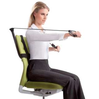Office gym! New Trend! See video inside! Can be installed on most chairs!