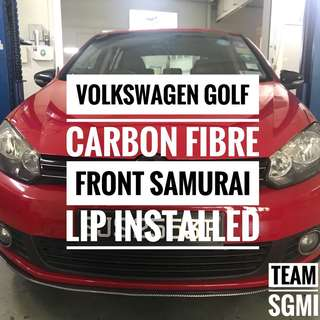 Volkswagen Golf Done! Carbon Fibre Samurai Lip! ** INSTALLATION PROVIDED!**