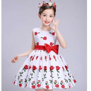 (Pre-order) Kids Princess Dress (White) #523