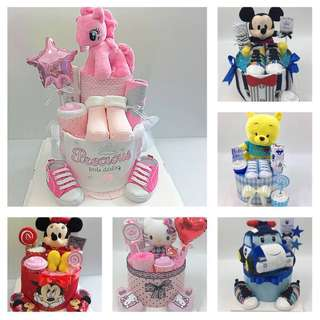 Baby Diapers Cake - Roadshows at North Point, Causeway pt, Hougang Mall, Lot 1