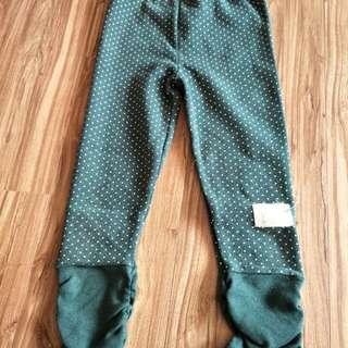 女童內搭綠點長褲