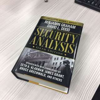 [BN] Security Analysis by Benjamin Graham & Graham Dodd - Investment Bible! -40% off retail price